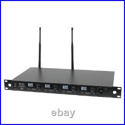 W Audio DQM800H Quad Handheld UHF System (CH70)