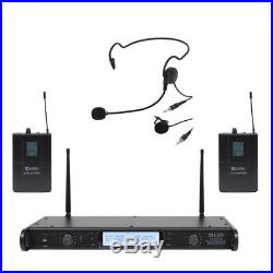 W Audio DTM-600 Dual UHF Beltpack CH38 Lapel Headset Radio Mic Wireless