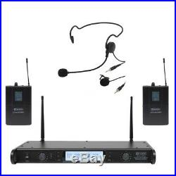 W Audio DTM 600 Twin Headset And Lavalier Wireless Belt Pack Microphone System