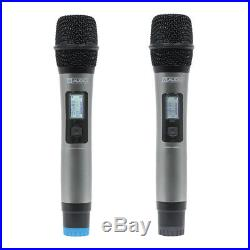 W Audio DTM 600H Twin Handheld UHF Diversity Radio Microphone Wireless Rack CH38
