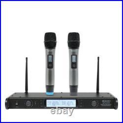 W Audio DTM 800H Twin Wireless Handheld Karaoke Microphone System inc Warranty