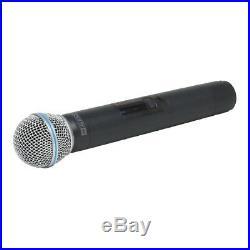 W Audio TM 80 Twin Handheld UHF Wireless Radio Microphone System 863.5/865Mhz