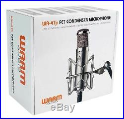 Warm Audio WA-47 JR FET Condenser Microphone Recording Studio Mic+Vocal Booth