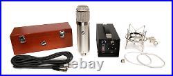 Warm Audio WA-47 U47 style tube condenser mic withpowr supply, shockmount, woodbox