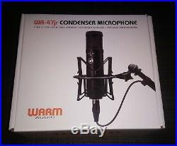 Warm Audio WA-47jr FET Vintage Style Condenser Microphone Mic & Mount Brand New