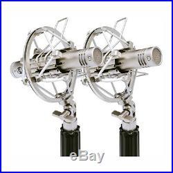Warm Audio WA-84 Vintage Style Small Capsule Studio Mic, Stereo Pair, Nickel BSTK