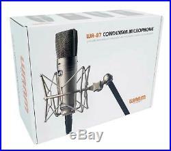Warm Audio WA-87 FET Condenser Microphone Recording Studio Mic+Mackie Headphones