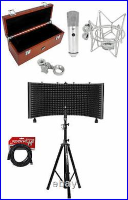 Warm Audio WA-87 Nickel FET Condenser Microphone Recording Mic+Vocal Booth+Stand