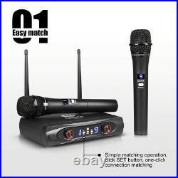 Wireless Microphone 240V Cardioid Polar Audio Receiver Dynamic Handheld Mic Sets