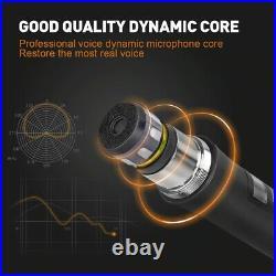 Wireless Microphone Handheld Cardioid Condenser Audio Sound Receiver Dynamic Mic