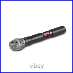 Wireless Microphone Portable Handhled Mic Box Cordless Audio Sound Receiver Sets