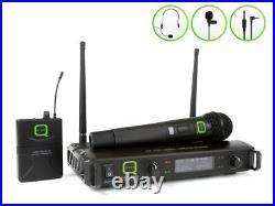Wireless Microphone Q-Audio QWM 1932 HH + BP UHF Radio Mic System 863.5/865MHz