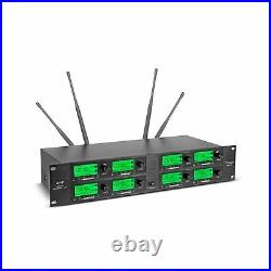 Wireless Microphone System 8 Channel Microphones Pro Audio UHF 8 Handheld Mic