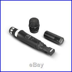 Wireless Microphones System Pro UHF 4 channel Karaoke Audio 4 handheld Metal Mic