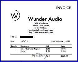 Wunder Audio Cm67 Tume MIC Upgraded To S Suprema