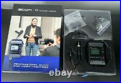Zoom F1 Field Recorder + Lavalier Mic Professional Audio for Video Creators