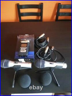 Zoom H4n Pro Bundle (2 Audio-technica Mics with all leads)